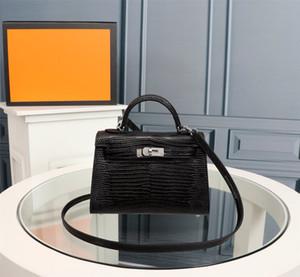 Классический женщин конструктора сумки на ремне сумки Стиль Мини ремешок Crossbody Tote кошелек высокого качества из натуральной кожи Сумочка Lizard шаблон +19,5