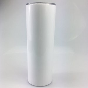 2020 NEW DIY Heat Sublimation Skinny Tumbler double Stainless Steel bottle Insulated straight Tumbler for free shipping A10