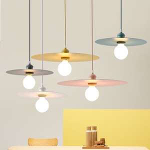 Lámpara colgante nórdica lámpara de restaurante macaron de color creativo mesa de hotel cafetería tienda de ropa accesorios de iluminación de bar