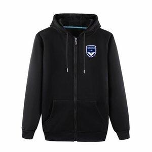 2020 Bordeaux longo manga da jaqueta com capuz Sportswear futebol do futebol Treino Full-Zip treinamento jaqueta com capuz Viagem jaquetas masculinas