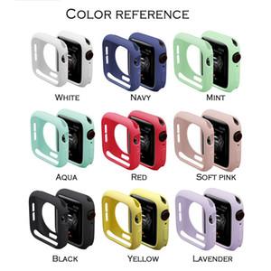 Funda de silicona suave colorido para el reloj de Apple iWatch para la Serie 1 2 3 4 Estuche de protección de la cubierta completa de 42 mm 44 mm 38 mm 40 mm
