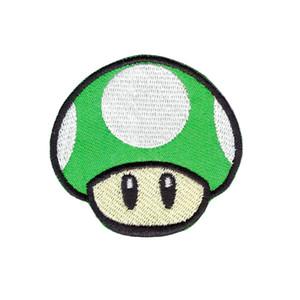 computer ricamo squisito nuovo arriva GIOCO verde SUPER MARIO zona ricamato Ferro Cucire Logo Emblem 1 SU FUNGO