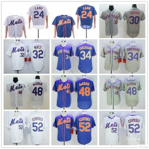 Newyorkmets costuradas # 12 JuanLagares 24 Robinson Canó 32 StevenMatz 52 YoenisCespedes 34 NoahSyndergaard 48 JacobDeGrom Equipamentos