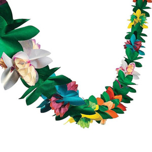 3M Hawaiian Flower String Jungle Beach Theme Party Summer Party Decor Beach Tropical Backdrop Bachelorette