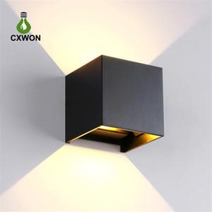 led duvar ışık 85-265v 7W 12w IP65 su geçirmez Yatak Başucu Işık Salon Balkon Koridor Duvar Lambası basit tasarımlar Mordern