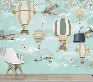 3D Bande Dessinée Coloré Animal Papier Peint Art Mural Salon Chambre papier Mural Papier Peint pour Kid chambre home Decor