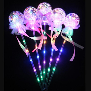 Light-up Magic Ball Wand Glow Stick Witch Wizard LED Magic Wands Rave Birthdays Princess Halloween Decor angle favors Kids toys gift