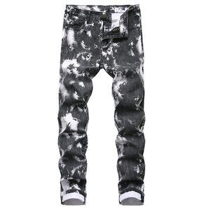 homens moda jeans jeans stretch reta clássicas calças calças de design apertada homens denim fino calças Plus Size