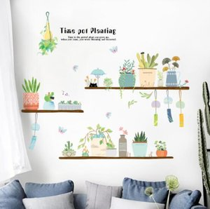 Wall stickers depth illusion PVC wall decal sticker murals art decals decorator self-adhesive removable decorative picture pot culture