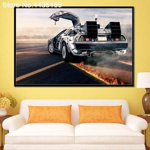 Decorativi Torna alla pittura Future Car DeLorean DMC parete di arte della tela di canapa per la Camera per la casa di poster e stampe