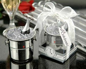 100pcs 미니 샴페인 얼음 양동이 주방 타이머 타이머 웨딩 파티 BOMBONIERE WEDDING GIFT Favour 선물 선물