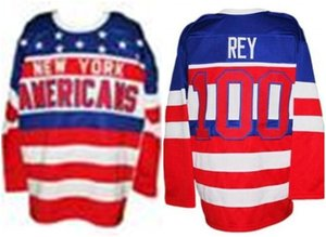 Vintage New York Americans Hockey Jersey high quality Embroidery Stitched Customize any number and name Jerseys