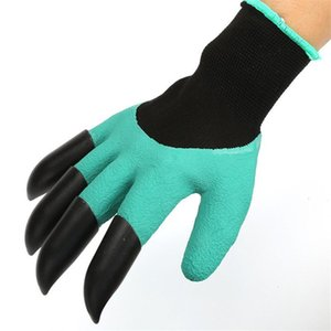 Latex Builders Garden Gloves With Plastic Claws For Digging Planting Gardening Work Glove Household Greenhouse Products