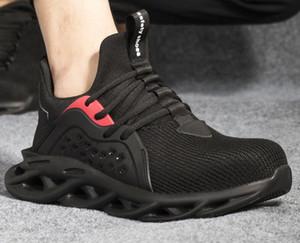 Новый четыре сезона дышащий износостойкие лету текстурированный защитная обувь средним помогите повседневная спортивная защита безопасности удар устойчивостью работы