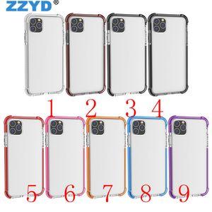 ZZYD 2in1 TPU PC clair Anti Shock Case pour iPhone 11 Pro Max Case Xs Max Xr X 10 8 7 plus de cas