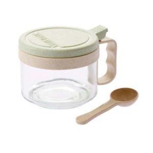 1pc Household Tempero Jar Box armazenamento caso condimento garrafas com tampa