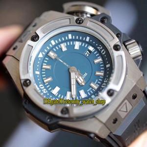 Mejor versión de 48 mm 731 5190 línea azul en Miyota mecánico automático del reloj para hombre de zafiro caja de acero correa de caucho de diseño de lujo relojes deportivos