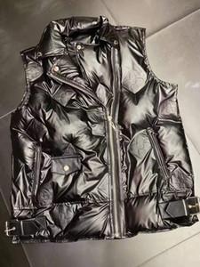 toptan Womens Tasarım Yelek Ceket Moda Kolsuz Lüks Fermuar Coat Marka WINDBREAKER Kalın Coat B104160D
