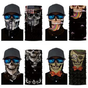 3Bih5 Cycling Masks Skull Scarf Magic Caps Motorcycle Neck Ski Mask Bandanas Skull Scarf Outdoor Skull Cap Riding Multifunctional Face Cs#218
