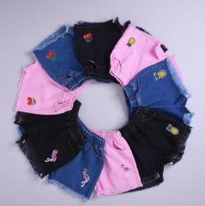 Baby-Shorts Jeans Neue Mädchen-Sommer-Shorts Denim INS-Kind-Mädchen Kurz Kinder Kinder Designer Cartoon-Jeans-Hose-Mädchen-Kleidung DYP966