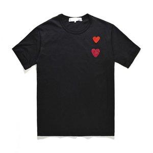 Womens Designer T-shirts 2020 Nouveau arrivée d'été Couple Chemises à manches courtes T-shirts de mode coeur Imprimer drôle Top Tee
