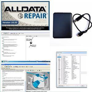 2019 Alldata Software All 10.53 in 640GB HDD usb3.0 drive de disco rígido Alldata Diagnostic tools fit windows 7/8 DHL free shipping