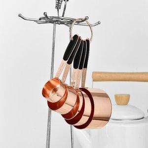 5PCS Stainless Steel Measuring Spoons Set Rose Gold Household Measuring Spoons For Kitchen DIY Baking Tool