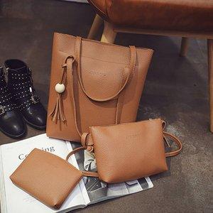 3 Pcs Women Handbag Set 2020 Pu Messenger Bags Ladies Fashion Shoulder Bag Lady Pu Leather Casual Female Shopper Tote Sac Femme