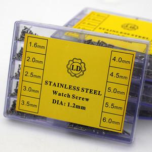 500 pcs Assista Parafuso 1.6mm 2mm 2.5mm 3mm 3.5mm 4mm 4.5mm 5mm 5.5mm 6mm Aço Inoxidável Relógio Peças ferramentas de Reparo Do Caso