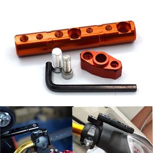 Para Universal motocicleta espelho retrovisor suporte 8MM 10MM de scooter vara de suporte de nevoeiro extensão de luz para Suzuki Kawasaki KTM