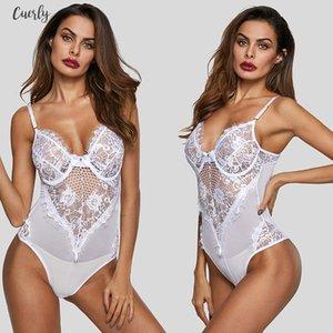Sheer Mesh dentelle Femme Bourgogne Cupped Bodysuit Noir Blanc manches évider Coupes Bodys Body à armatures Top Sexy