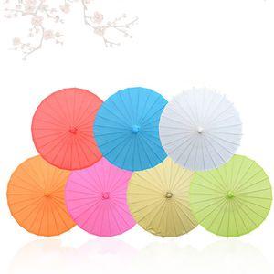 Mini Peinture blanc papier parapluie mariée décoration de mariage parasol enfants à la main scène la performance les accessoires papier pour le cadeau de noël