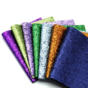 100*140cm lot Faux Leather Fabrics Shiny Chunky Glitter Synthetic Leather Fabric DIY Hairbow Bag Shoes Sewing Material,2Yc6563