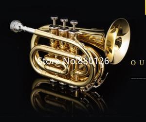 Heiße verkaufende Taschentrompete Bb Wohnung Messing Lack Gold-Profi Instrument Musik mit Fall-Mundstück-freies Verschiffen