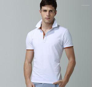 Bouton cou lambrissés T-shirts mâles adolescents Mode à manches courtes T-shirts Solide Couleur Designer Casual Mens Polos été Lapel