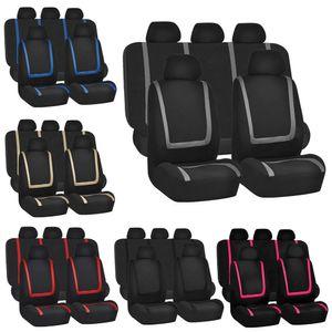 Neue Universal-Autositzbezüge 9pcs Vollsitzbezüge Beschläge Auto-Innenraum Autozubehör Geeignet für Autopflege Sitzschutz F-13