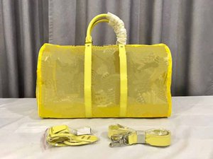 della borsa del duffel borsa di lusso del progettista 50cm nuovo pattern fiore borse borse del progettista modo di stile L viaggio borsone