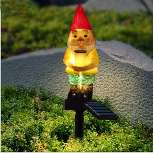 New solar lawn lamp outdoor waterproof garden courtyard Santa Claus style landscape lights