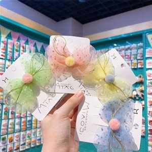 2020 النسخة الكورية من كليب غزل صافي القوس الشعر الجديد الحلوى الملونة للأطفال سوبر الجنية اكسسوارات للشعر