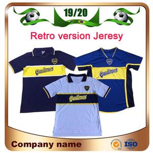 97/98 Version rétro BOCA JUNIOR SOCCER JERSEY 00/01 95/96 # 10 Roman # 9 SHIRT DE SOCCER PALERMO MARADONA VINTAGE VINTAGE Uniforme de football de Caniga