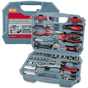Hand Tool Kits Metric Multi-function Auto Car Repair Kit Garage Socket Wrench Sets Automotive Mechanics Home Case Metalworking