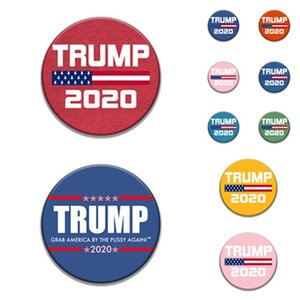 fashion 9style Trump Commemorative Badge brooches pins 2020 American Election Supplies Trump Badge US Flag party Supply T2I5962-2