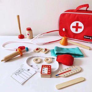 Export South Korea Children Doctor Toy Set GIRL'S Injection Wooden Model Medical Kit Play House Echometer