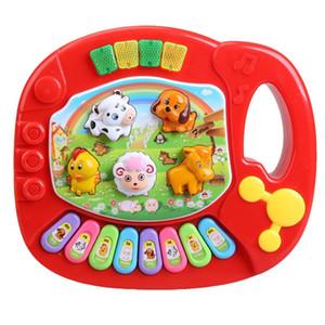 Bebek Çocuk Müzikal Eğitim Piyano Hayvan Çiftliği Gelişim Müzik Oyuncak eğitici çocuk oyuncak Noel doğum günü hediyesi DHL