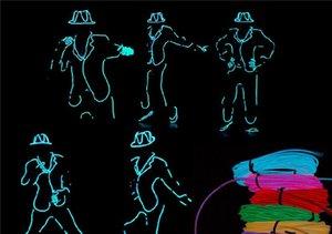 1M 2M 3M 5M EL Wire Strip 9 Colors Flexible Neon LED Light Glowing Tube Wire Dance Lights Party Decoration