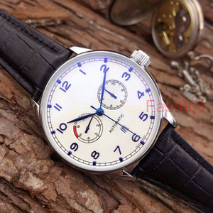 Couro IW Top luxo Moda Mecânica Mens designer de aço inoxidável relógio movimento automático esportes mens relógios de pulso fast001