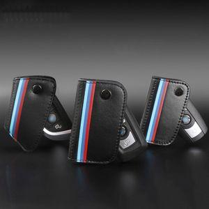 Portachiavi in vera pelle per bmw e90 f30 f34 f10 e70 e71 x1 x3 x4 x5 x6 1 2 3 4 5 6 7 serie Classic Design Car Key Case