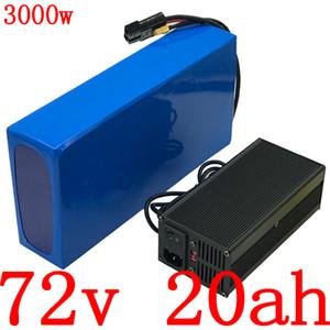 72v 20Ah 2000w 3000w bicicleta eléctrico da bateria 72v bateria 20Ah lítio com BMS 50a + 84V 5a dever livre carregador