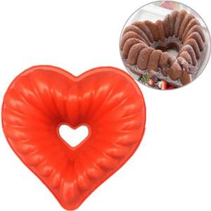 Aşk Kalp Şekli Kek Kalıp Silikon Kalp Şeklinde Pişirme Kalıp Kalp Mousse Ekmek Kalıp BakewareDIY Yapışmaz Kek Kalıp