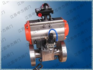 Stainless steel high temperature flange pneumatic ball valve